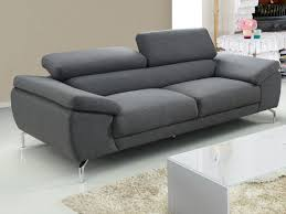 canapé 3 places gris canapé 2 ou 3 places en tissu imperméable 2 coloris gretel
