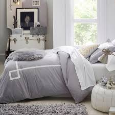 and White Ribbon Trim Bedding