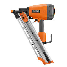 Home Depot Husky Floor Nailer by Ridgid 3 5 In Clipped Head Framing Nailer R350chd The Home Depot