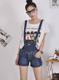Summer Korea Fashion Women Strap Short Jeans