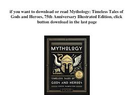 5 If You Want To Download Or Read Mythology Timeless Tales Of Gods And Heroes