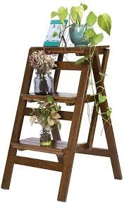 ZCCTD Wooden Ladder Threestep Folding Step Stool Stair Chair ...