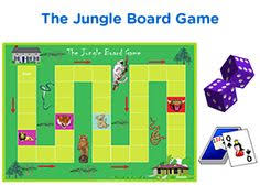 2nd Grade The Jungle Board Game For Math Practice Free Downloable