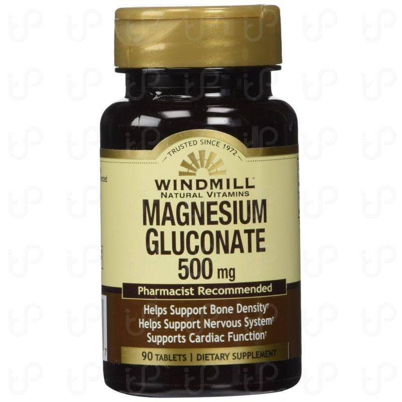 Windmill Magnesium Gluconate - 90 Tablets, 500mg