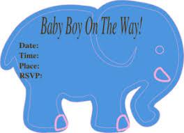 Free Baby Shower Elephant Clip Art 41