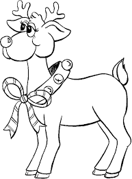 Santa Claus S Reindeer Free Coloring Image To Print For Kids