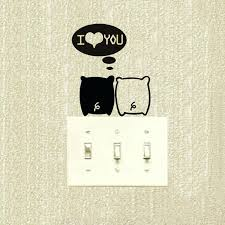 Stupefying Pig Bedroom Decor Conjugal Love Couples The Marriage Room Decoration Switch Vinyl Stickers
