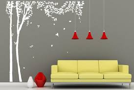 tree wall decals large tree wall murals white tree birds wall