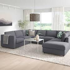 vimle sofa u form 6 sitzig ohne abschluss gunnared mittelgrau