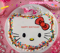 Make a birthday cake for cat lover Here we have e up with hello kitty themed birthday cake you can create birthday cake wishes for your dear ones