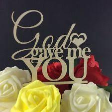 God Gave Me You Cake Topper Wedding Decorations Bridal Shower USA