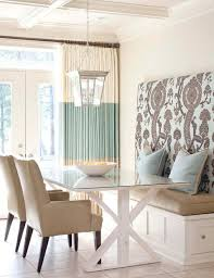 Serene Dining Scheme With Upholstered Banquette More Seating Ideas At