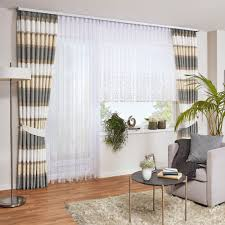 gardine mit querstreifen gardinen wohnzimmer gardinen