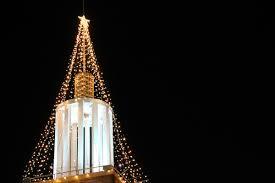 String Light Christmas Tree At Night