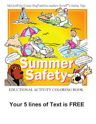 McGruff The Crime Dog Summer Safety Coloring Book