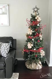 White Christmas Tree Skirt Walmart a country plaid and burlap christmas tree with burlap plaid and