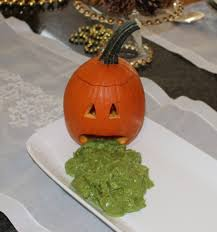 Puking Pumpkin Guacamole Dip by More Guac Pumpkin Grin And Eat