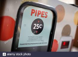 a vending machine that dispenses pipes for 25 cents