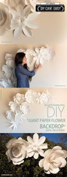 Crepe Paper Flower Wall Decor