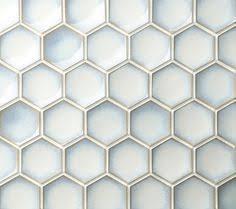 nova hex stretched hexagon mosaics steel beveled in tiles