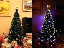 6 Artificial Christmas Tree Ft Lit Multi Color Led Fiber Optic Angel Topper 6ft Slim Alberta