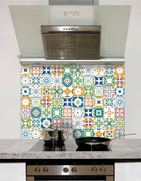 Mediterranean Mosaic Tile Printed Glass Splashback From DIYSplashbackscouk
