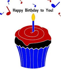 Happy Birthday Clipart Image Birthday Cupcake With a Candle