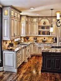 Love This Color Of Kitchen Cabinets And The Granite Counter Tops Paint Glaze Fancy With A Black Island