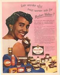 Madam Cj Walker 1950s African American Makeup Advertisment