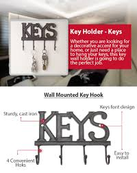 Decorative Key Rack For Wall by Amazon Com Key Holder Keys Wall Mounted Key Hook Rustic