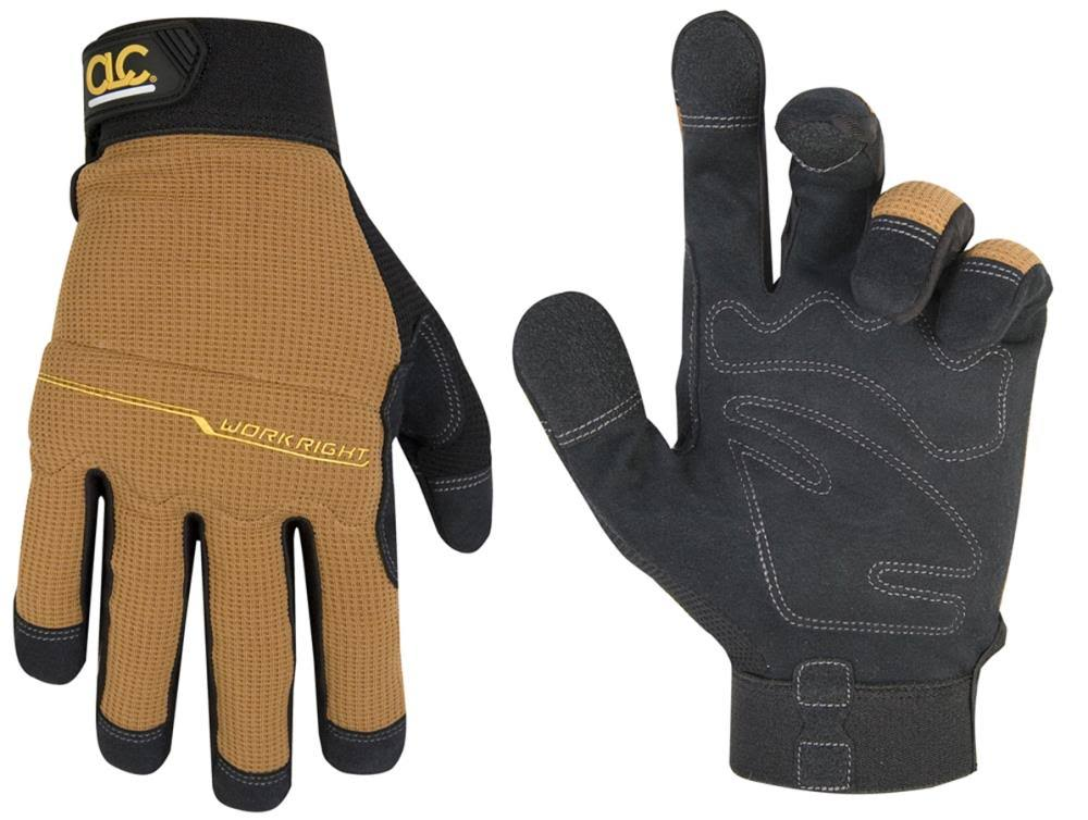 Custom Leathercraft 124L Workright Flex Grip Work Gloves, L