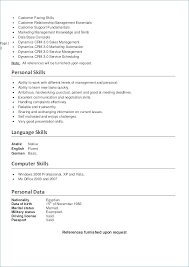 Resume Examples With Language Skills And Office Manager Example Chronological To