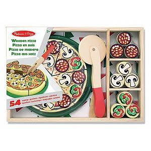 Melissa & Doug Wooden Pizza Party Playset