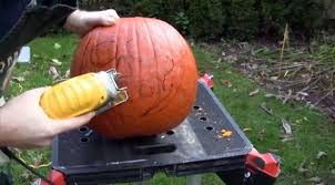Pumpkin Carving With Drill by How To Carve Your Halloween Pumpkin Using Power Tools Toronto Star