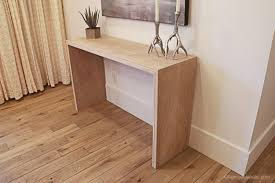 Easy Woodworking Projects For Beginners Plywood Waterfall Console Table