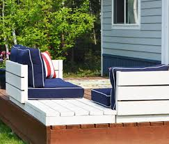 ana white platform outdoor sectional with end table part 2