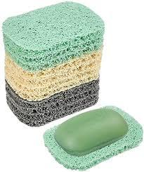idealeben seifenschoner 12 stück seifenhalter seifenschale zubehör für küche badezimmer arbeitsplatte 3 farben seifenmatte seifenkissen zubehör