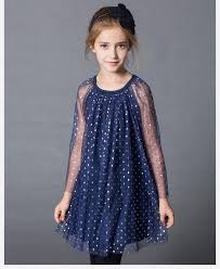 European And American Big Girls Summer Organza Dress Child Princess Long Sleeve Gauze Children Clothing C001 Short
