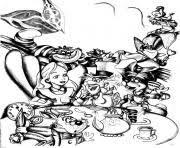 Adult Disney Drawing Alice In Wonderland Coloring
