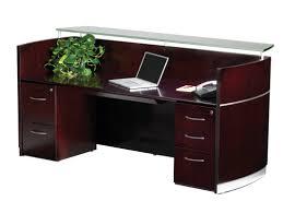 Bush Desk Series C by Mayline Napoli Series Rectangular Reception Desk U0026 Reviews Wayfair