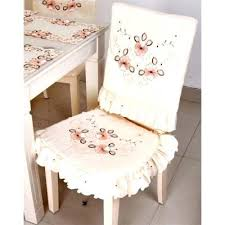 Dining Table Chair Covers Classic Beige Embroidered Polyester Cover Set Cushion