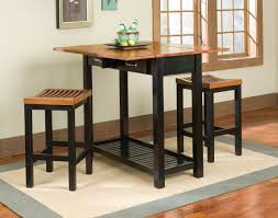 Black Kitchen Table Decorating Ideas by Small Drop Leaf High Top Kitchen Table Sets With Double Drawer And