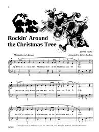 Rockin Around The Christmas Tree Piano Chords by Bastien Piano Basics Popular Christmas By J W Pepper Sheet Music