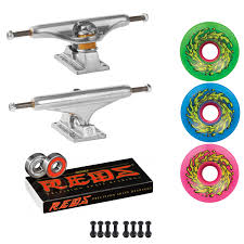 100 Skateboard Truck Sizes Independent S Santa Cruz SKATEBOARD 66mm OG Slime Wheels