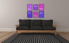 modernes wohnzimmer im innenraum mit sofa und collage of
