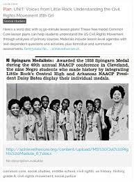 UNIT Voices From Little Rock Understanding The Civil Rights Movement Grade Get 15 FREE Common Core Lessons Each 90 Minutes Long