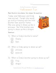 Short Halloween Riddles And Answers by Halloween Reading Comprehension Worksheet Kiddie Stuff