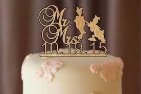 Silhouette Wedding Cake Topper