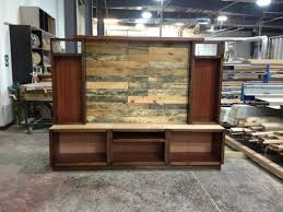 Custom Entertainment Center With Pallet Wood