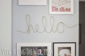 Easy DIY Wire Word Art